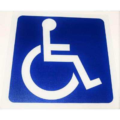 PowerBond 3 ft. x 3 ft. Handicap Sticker (Peel and Stick)
