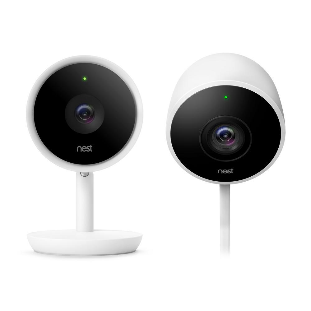 Nest Cam IQ Indoor Security Camera and Google Nest Cam Outdoor Security Camera