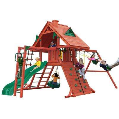 Sun Palace II Wooden Swing Set with Monkey Bars