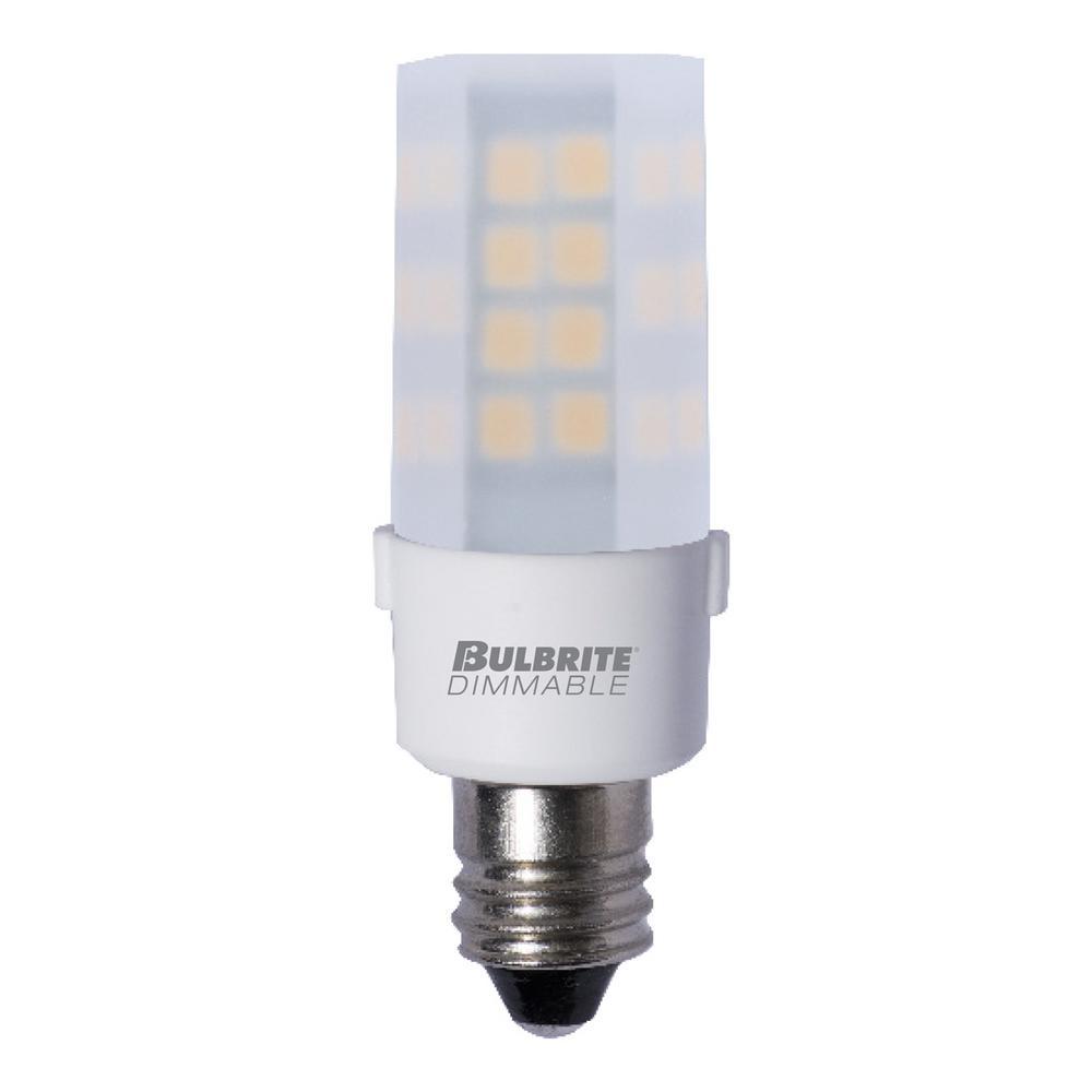 35-Watt Equivalent T4 Dimmable Mini-Candelabra LED Light Bulb Soft White (2-Pack)