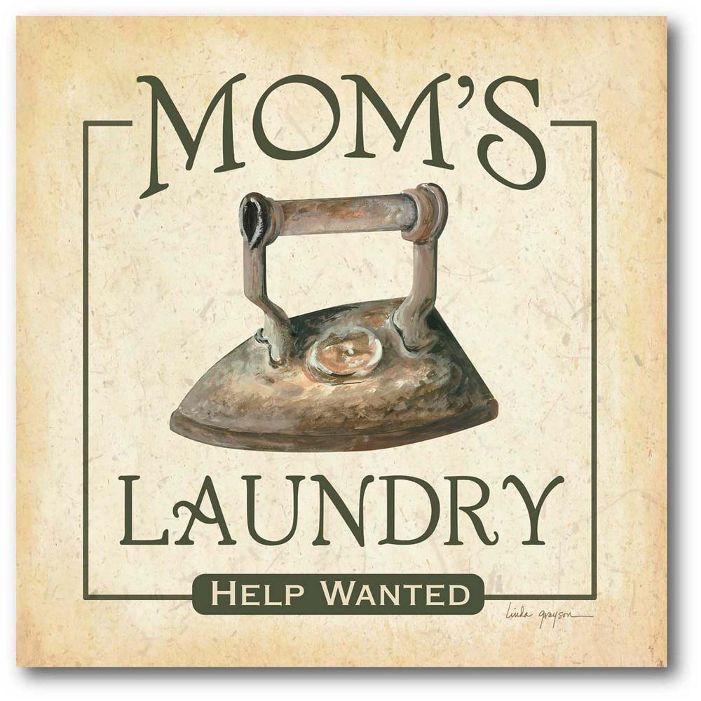 Courtside Market Mom's Laundry 24 in. x 24 in. Gallery-Wrapped Canvas Wall Art, Multi Color was $115.0 now $64.03 (44.0% off)