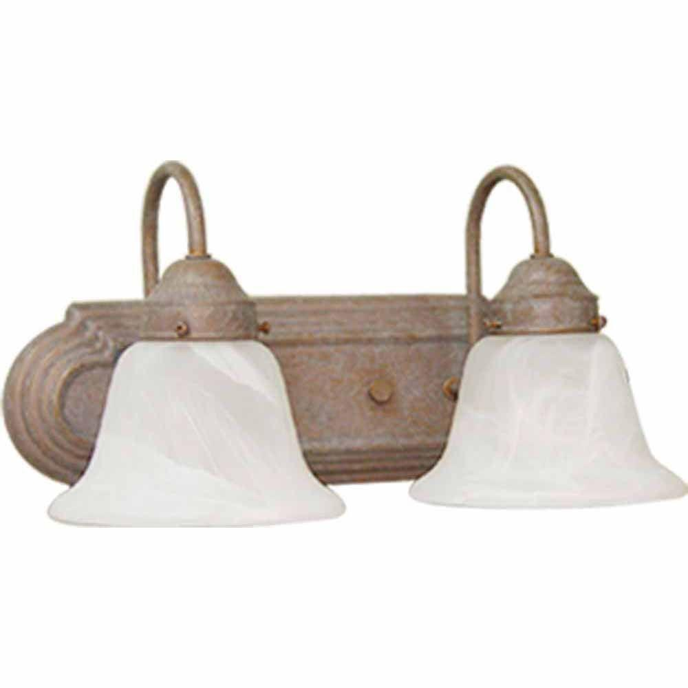 Lenor 2-Light Prairie Rock Incandescent Bath Vanity