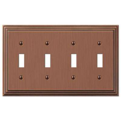 Steps 4 Toggle Wall Plate - Antique Copper