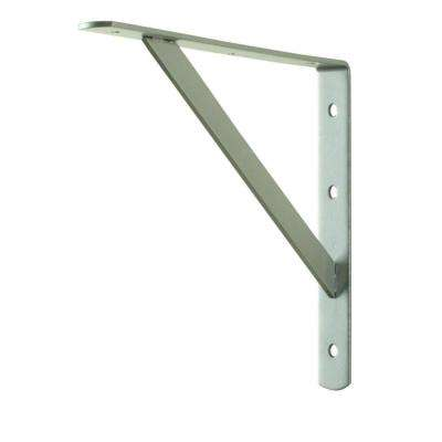 12 in. x 8 in. Satin Nickel Heavy Duty Shelf Bracket