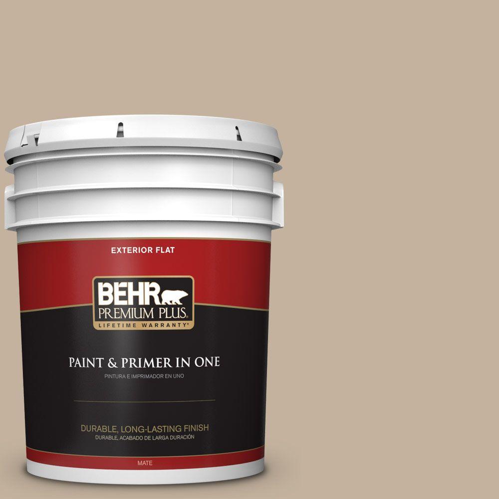 BEHR Premium Plus 5-gal. #BNC-03 Essential Brown Flat Exterior Paint