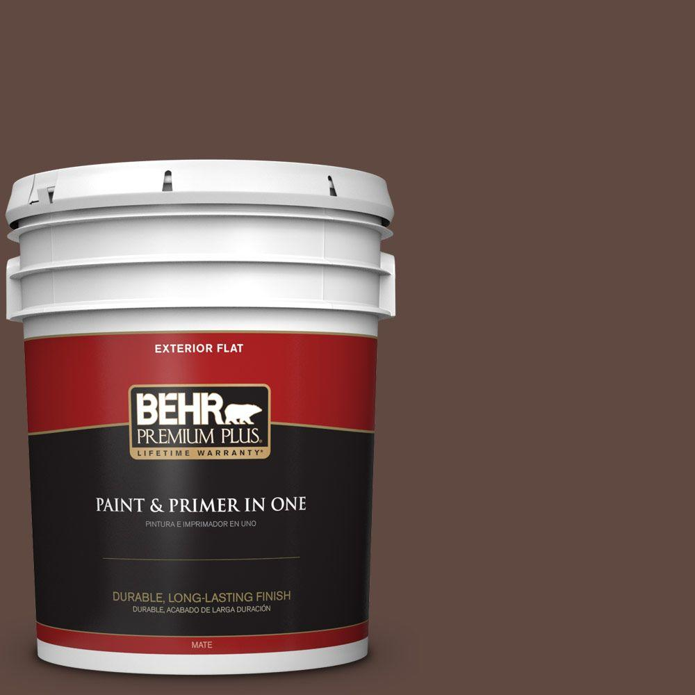 5-gal. #N150-7 Chocolate Therapy Flat Exterior Paint