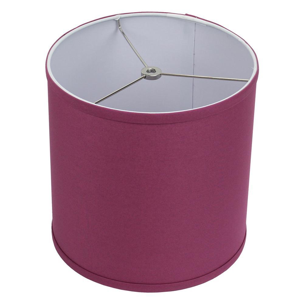 10 in. Top Diameter x 10 in. H x 10 in. Bottom Diameter Linen Plum Drum Lamp Shade