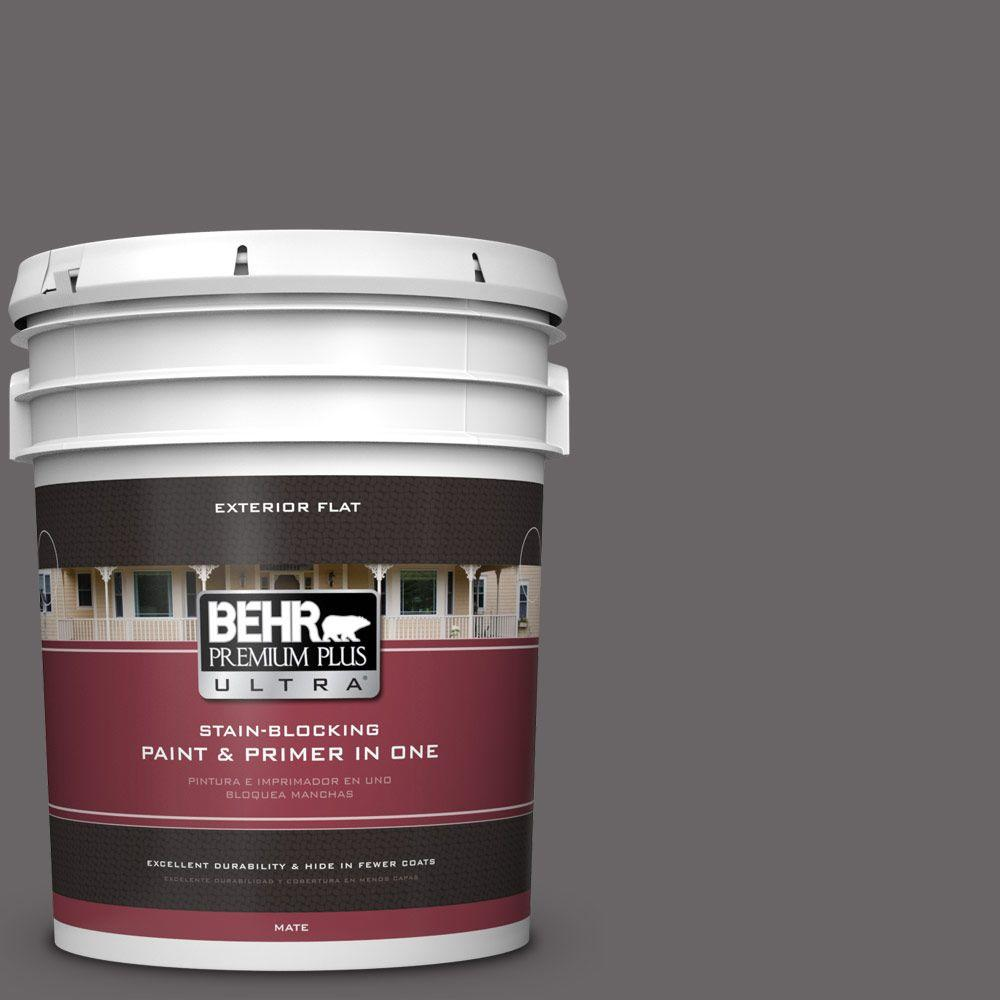BEHR Premium Plus Ultra 5-gal. #PPU17-19 Arabian Veil Flat Exterior Paint