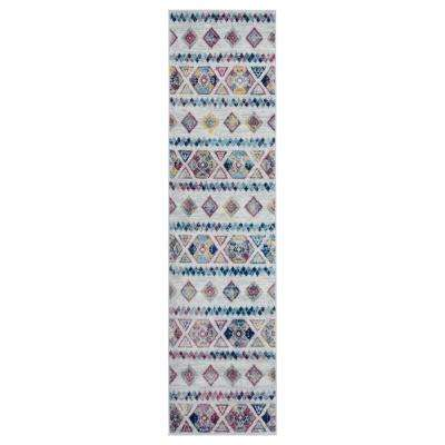 Alexis Blue Tribal 2 ft. 6 in. x 10 ft. 3 in. Runner Rug