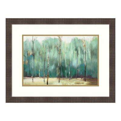 """Teal Forest"" by Allison Pearce Framed Wall Art"