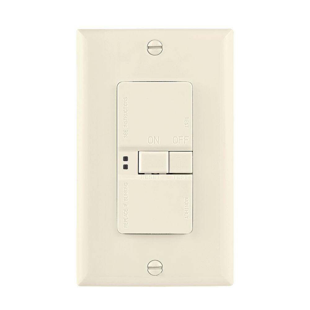 Eaton GFCI Self-Test 20A -125V Blank Face Receptacle with Standard ...