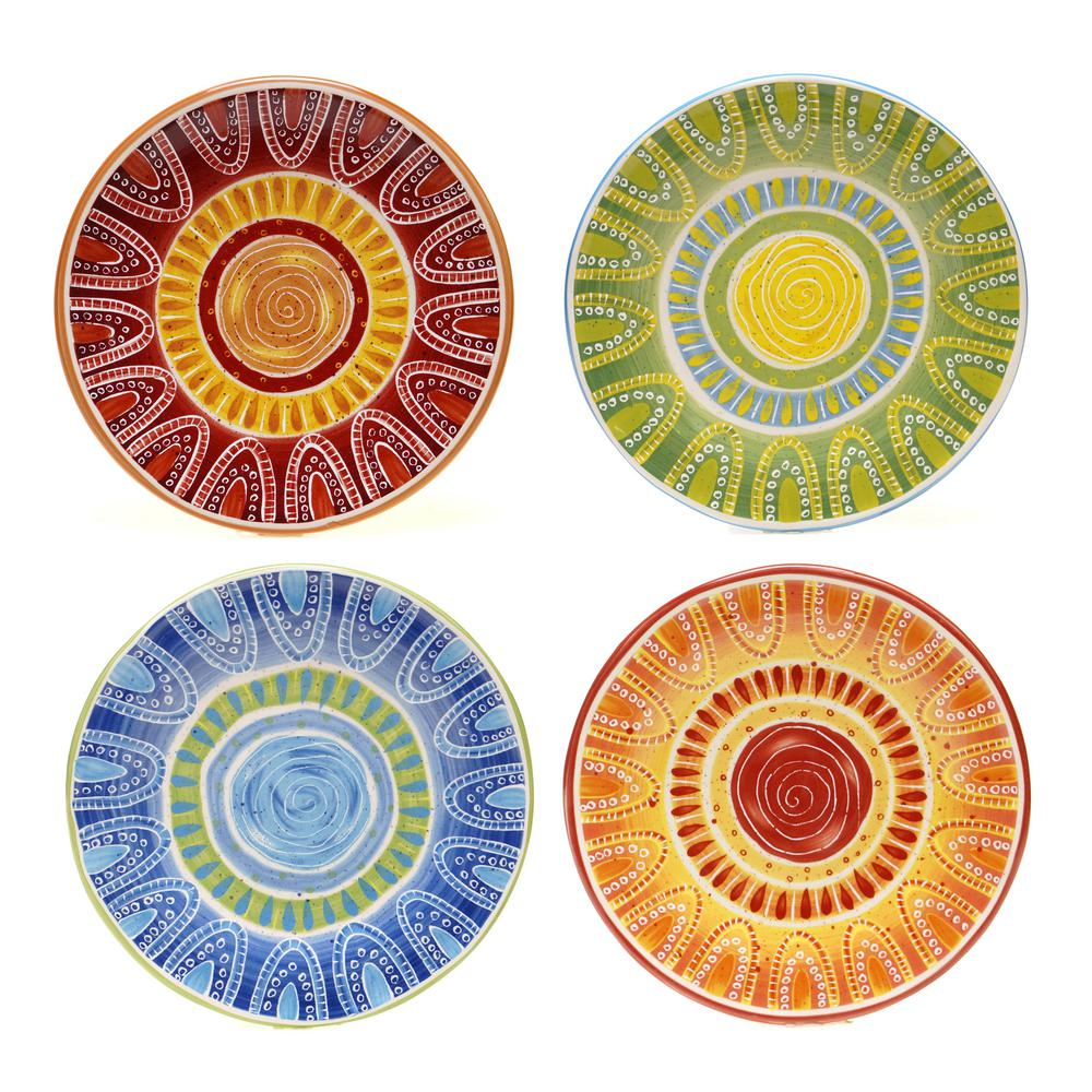 Certified International Tapas 8.75 in. Salad and Dessert Plate (Set of 4)  sc 1 st  The Home Depot & Certified International Tapas 8.75 in. Salad and Dessert Plate (Set ...