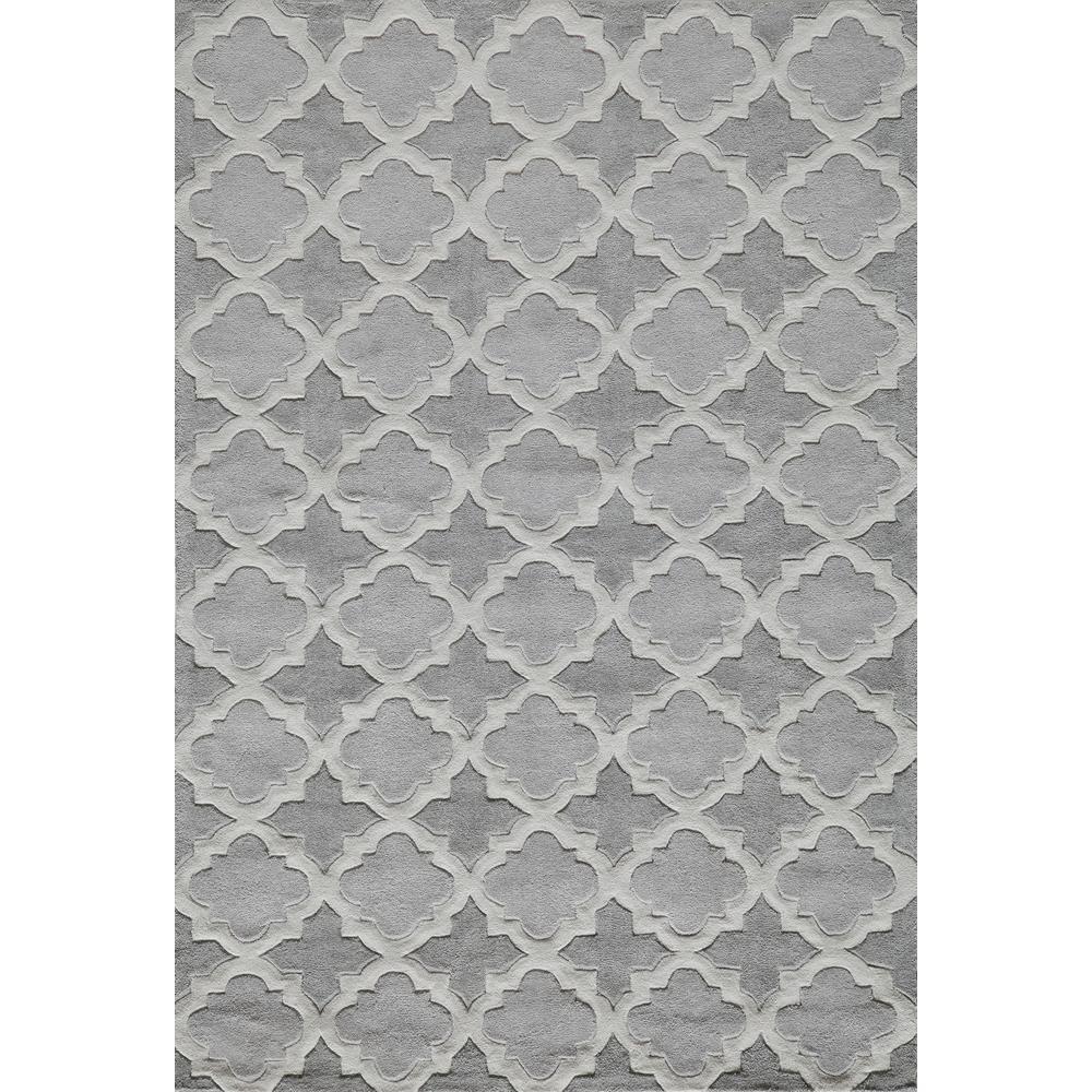 Bliss Grey 3 ft. 6 in. x 5 ft. 6 in. Indoor Area Rug