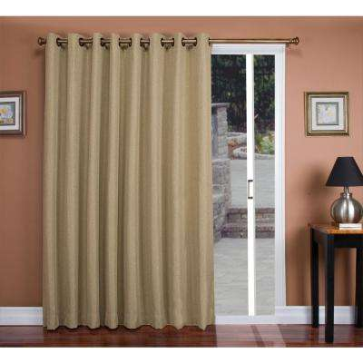 Blackout Tacoma Double Polyester Blackout Patio Panel 106 in. W x 84 in. L Driftwood Face, Liner Fabric Both Woven