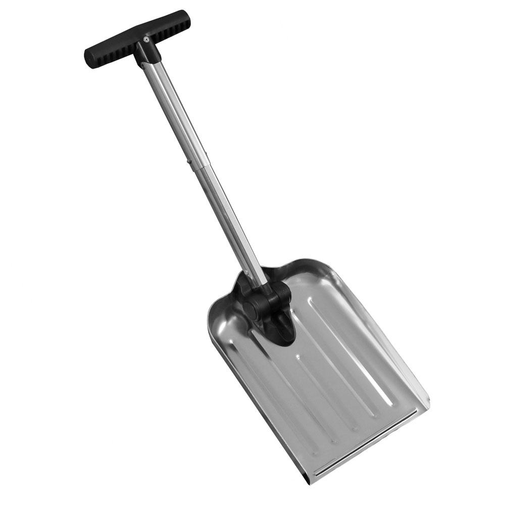 CASL Brands 8 in. Silver Blade Automotive Folding Snow Shovel with Bag