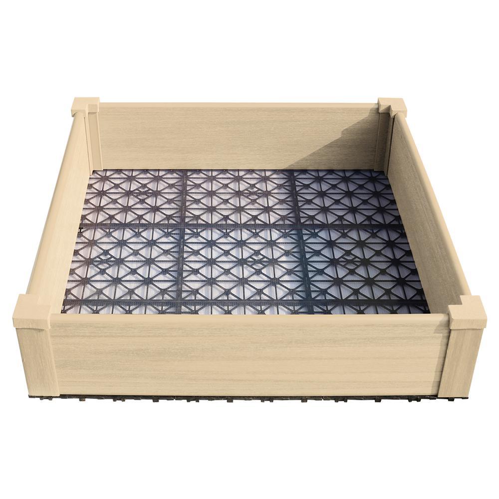 36 in. x 36 in. Japanese Cedar Composite Lumber Patio Raised Garden Bed Kit