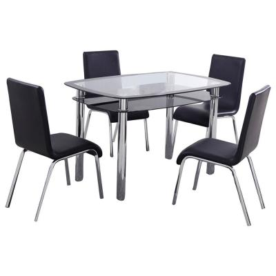 Reagan Black Dinette Set (5-Piece)