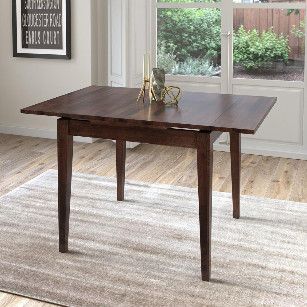 Corliving Dillon Cappuccino Stained Wood Extendable Dining