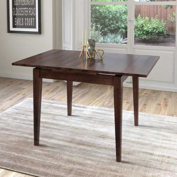 Artur Extending Dining Table In 2019: CorLiving Dillon Cappuccino Stained Wood Extendable Dining