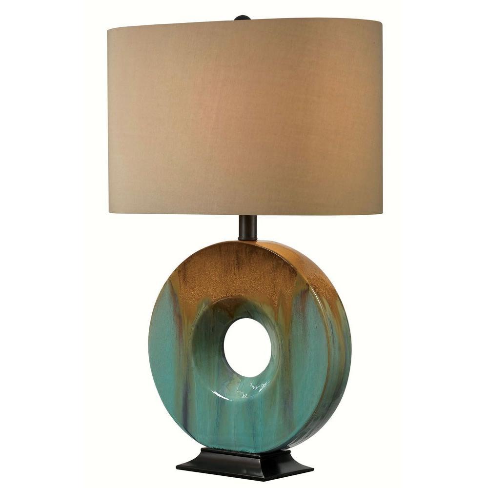 Kenroy Home Sesame 25 In Ceramic Glaze Table Lamp 32184cg The