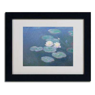 11 in. x 14 in. Waterlilies Evening Matted Black Framed Wall Art