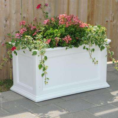 Fairfield 36 in. x 20 in. White Plastic Planter