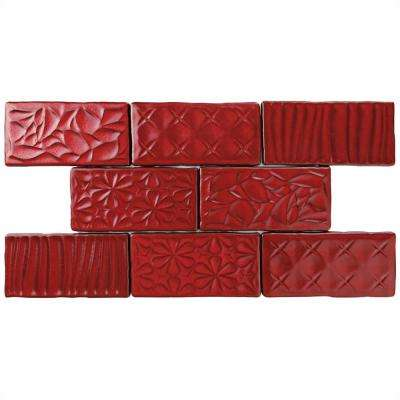 Antic Sensations Red Moon 3 In. X 6 In. Ceramic Wall Tile (1