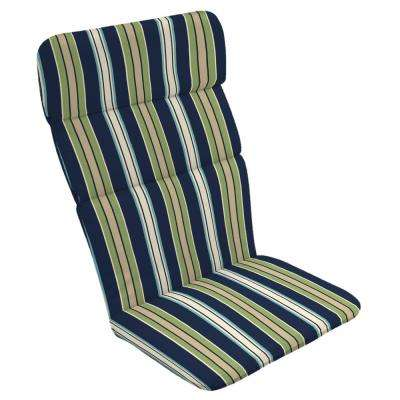 20 x 17 Sapphire Clarissa Stripe Outdoor Adirondack Chair Cushion