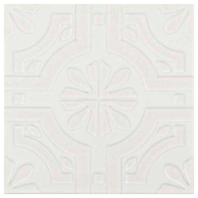 Triplex Real White 7-3/4 in. x 7-3/4 in. Ceramic Floor and Wall Tile (11.11 sq. ft. / case)