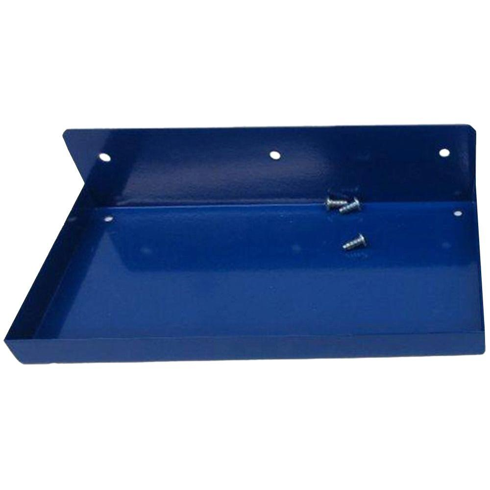 12 in. W x 6 in. D Blue Epoxy Coated Steel