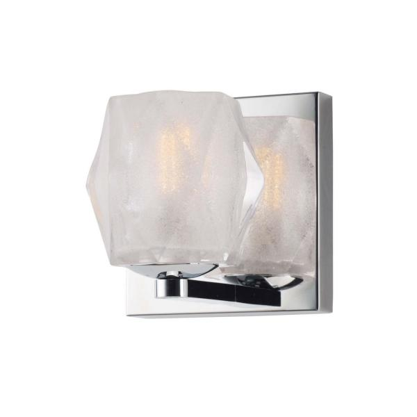 Peak 4.75 in. Wide Polished Chrome Sconce