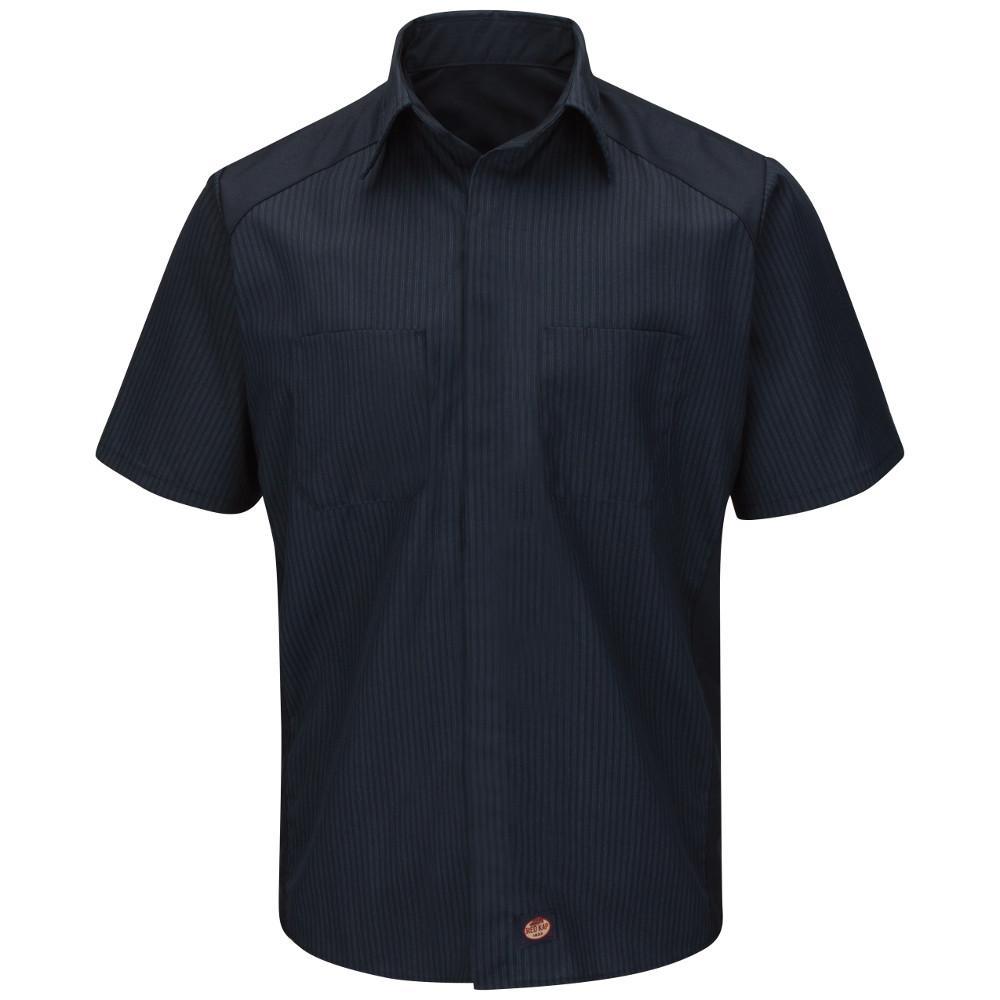 69de8ff3605 Men s Size XL Navy   Light Blue stripe with Navy contrast Short Sleeve Color  Block Shirt