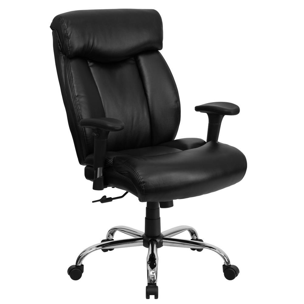 Flash Furniture Black Leather Office/Desk Chair GO1235BKLEAA