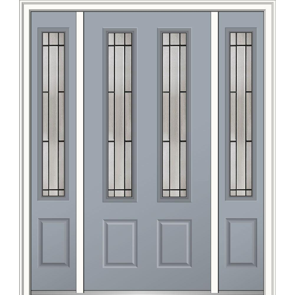 Mmi door 64 in x 80 in solstice glass right hand 2 3 4 for Prehung exterior doors with storm door