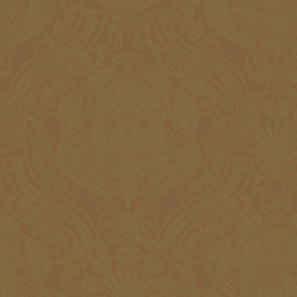 The Wallpaper Company 56 sq. ft. Metallic Grandiose Damask Wallpaper