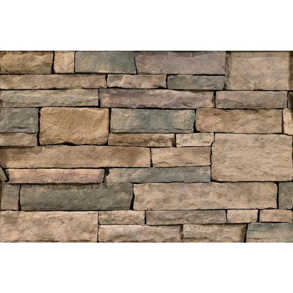 Bucks County Ledgestone Flats 2 in. to 8 in. x 6 in. x 20 in. Manufactured Stone Ledgestone Flat 10 sf. ft. Pack