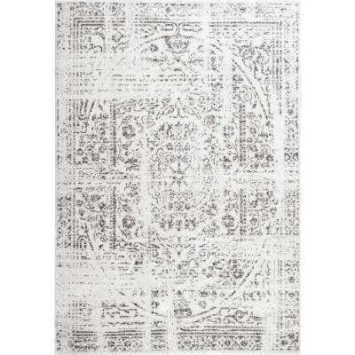 Vintage Arlena Gray 8 ft. x 10 ft. Area Rug