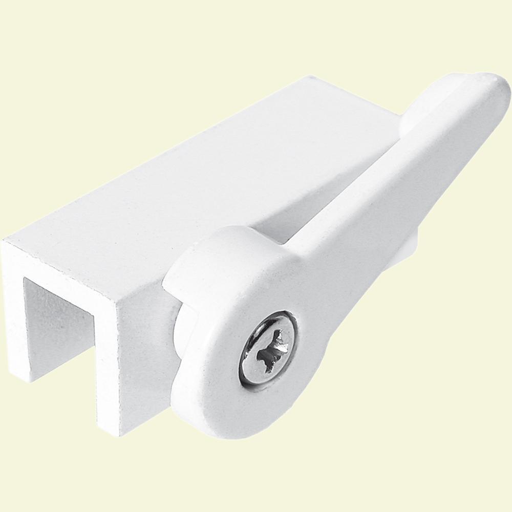 White Aluminum Cam Action Sliding Window Lock