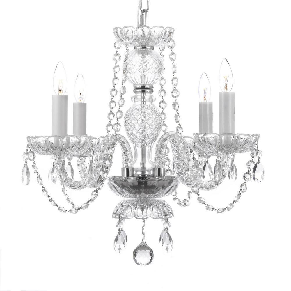 4-Light Venetian Style Empress Crystal Chandelier