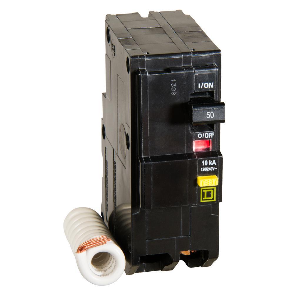 Square D Qo 50 Amp 2 Pole Gfci Breaker Qo250gficp The Home Depot