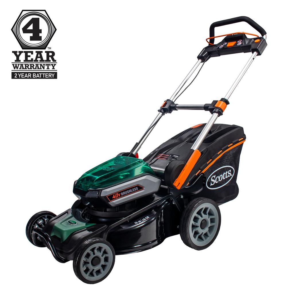 19 in. 40-Volt Lithium-Ion Cordless Battery Walk Behind Push Mower 5
