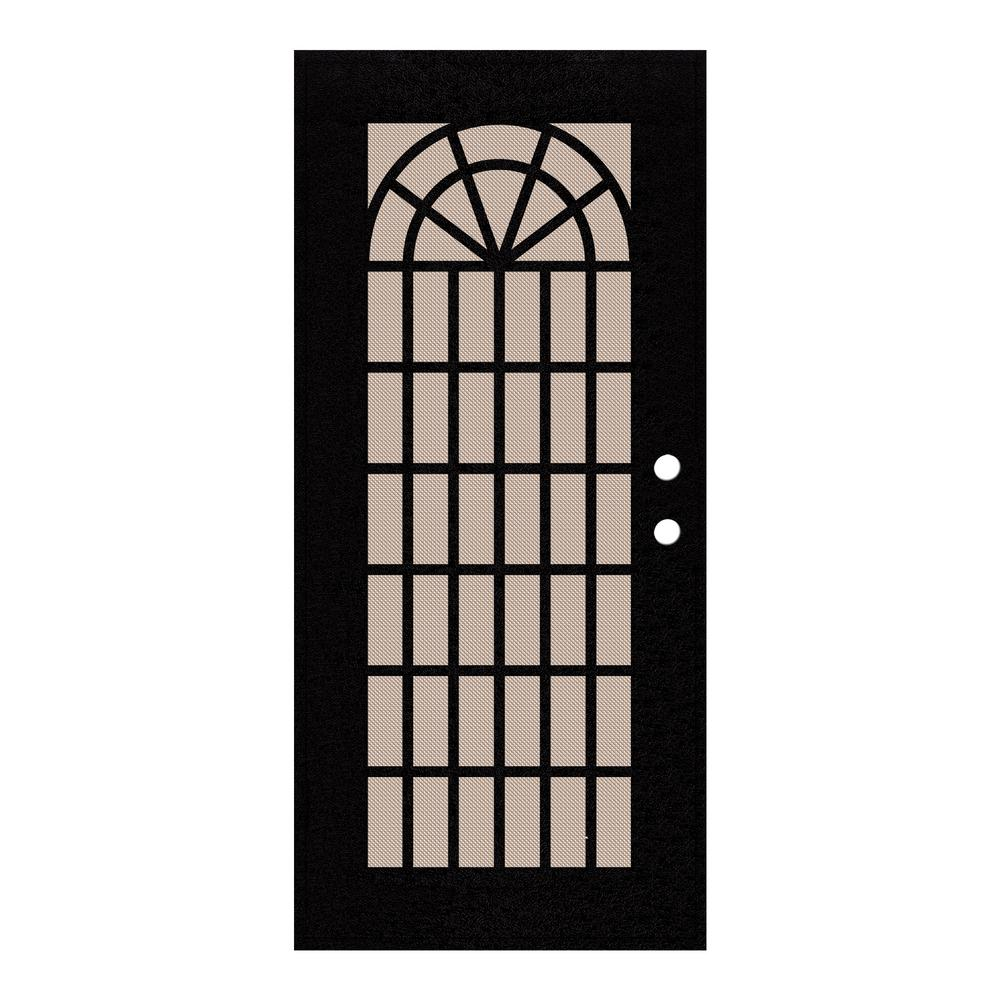 Unique Home Designs 36 In. X 80 In. Trellis Black Left