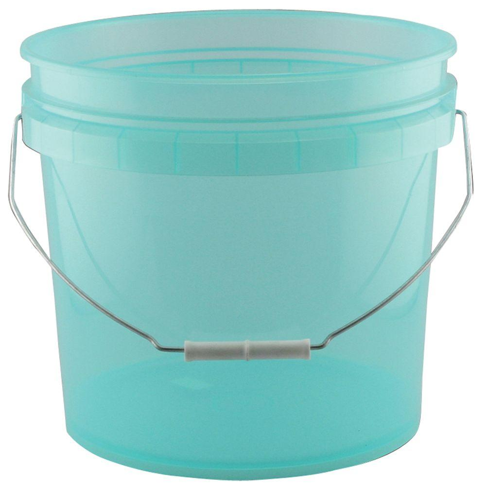 green plastic translucent pail pack of 3