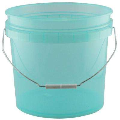 3.5-Gal. Green Plastic Translucent Pail (Pack of 3)