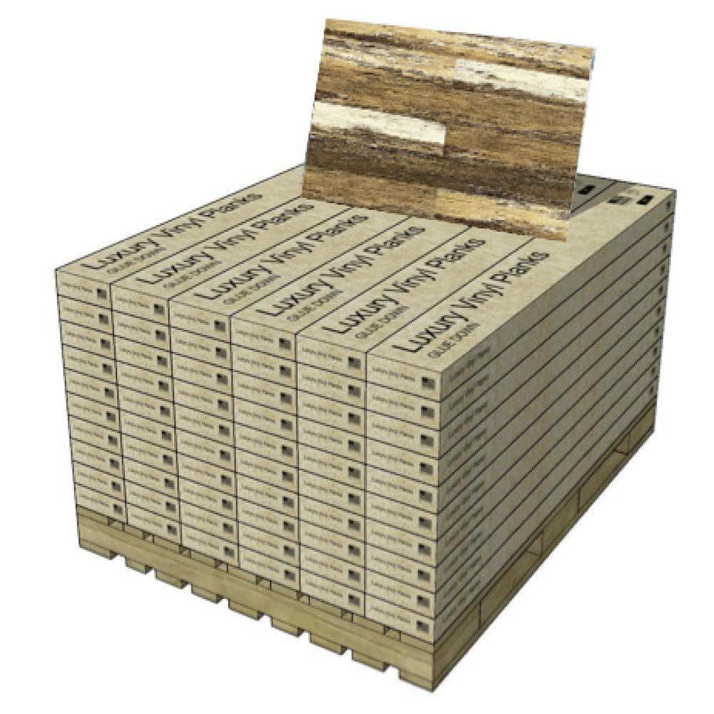 COLORS Floor and Wall Old Brown Wood 6 in. x 36 in. Multi-Tonal Glue Down Luxury Vinyl Plank (2400 sqft/80 cases/pallet)