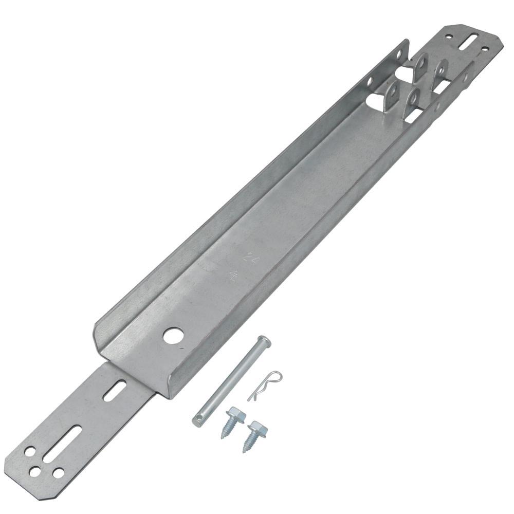 24 in. Steel Reinforcement Bracket for Overhead Garage Door