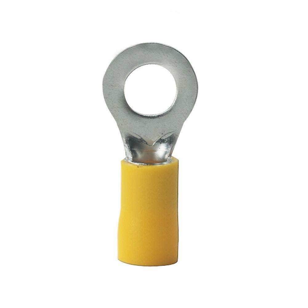Install Bay Ring Terminal Vinyl 12//10 Gauge 1//4