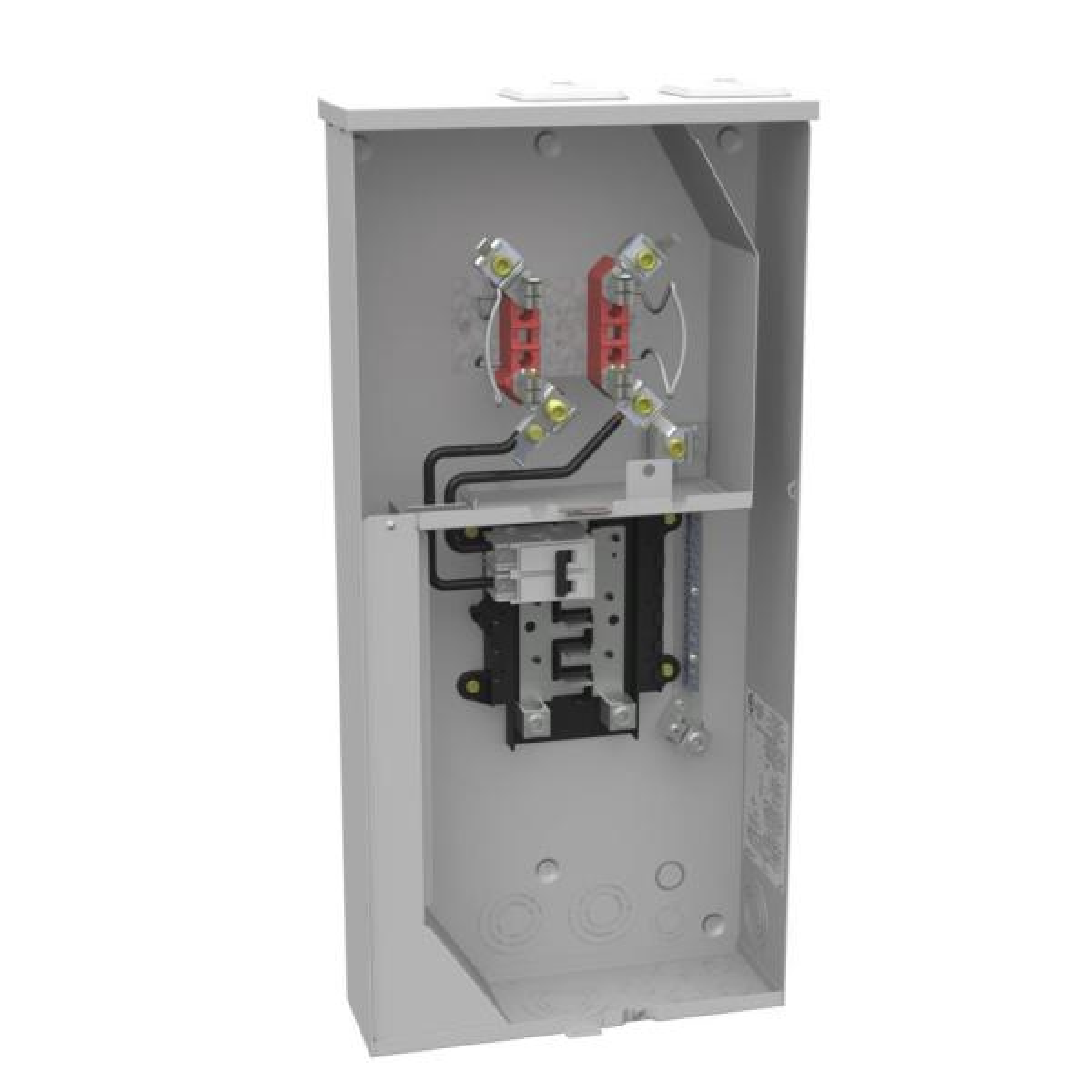 100 Amp 4 Terminal Ringless Horn Bypass Overhead/Underground Combination Meter Socket/Load Center