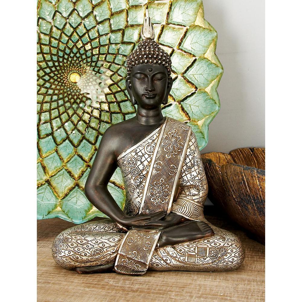 Polystone Sitting Buddha Sculpture