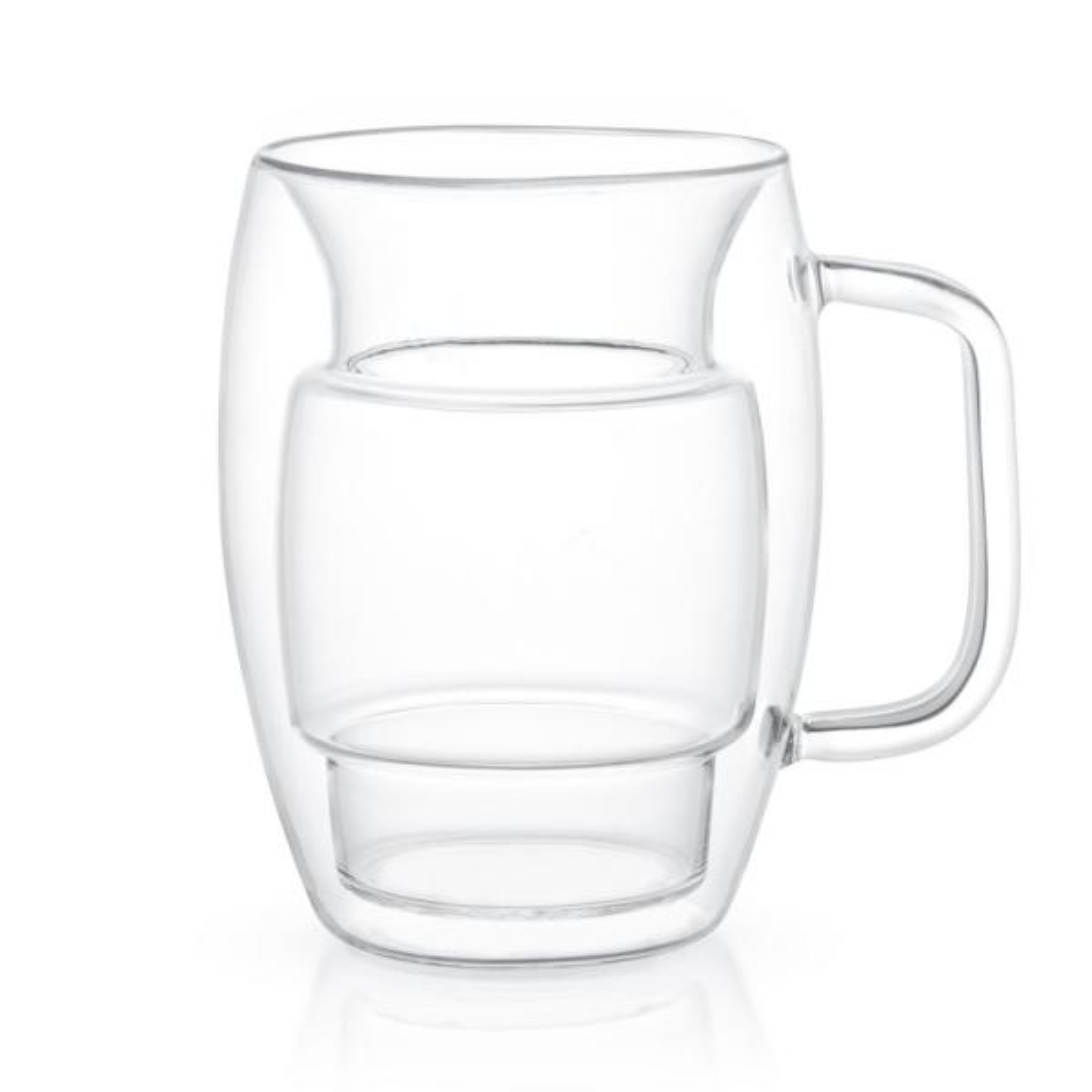 Cadus 16 oz. Double Wall Coffee Glasses (Set of 4)